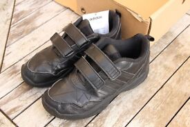 Kids black Adidas school shoes, size c13, boxed