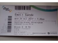 Emeli Sande Tickets x2 Wed Oct 25 2017 Genting Arena Birmingham Block 3. Any reasonable offer.