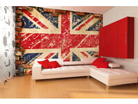 England Flag wallpaper|| Peel & stick || Remoovable || Reusable || High Quality materials || DIY
