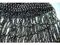 *CHARITY SALE* Jewelry - Belly Dance Costume Cap Beaded Headdress in Dark Silver