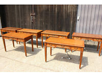 Writing Table joblot of 6 Desks with leather tops and power sockets