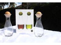 Sagaform 5015337 Oil/Vinegar Bottles with Oak Stoppers, 2-Pack