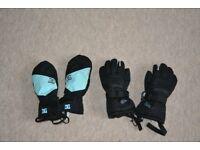Boys/girls ski gloves - age 6-8