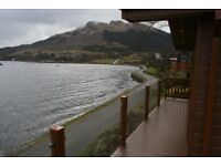 New Victory Lodge on the water front at Drimsynie, Lochgoil,one hour from G'gow. Luxury Lodge & Park
