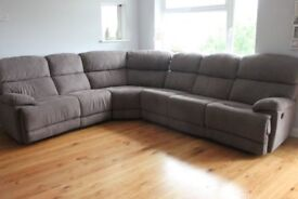 Immaculate Large Corner Sofa with two recliners