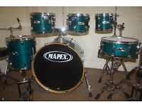 Mapex M Series Transparent Sapphire Lacquered 6 Piece Drum Kit - DRUMS ONLY
