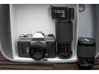 Chinon CX Single Lens Reflex Camera uses 35mm Films.