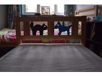 IKEA Kritter bed frame plus mattress with removable cover