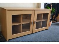 Beech effect sideboard/cabinet, good condition.