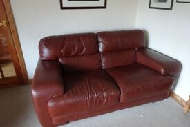 Sofaitalia real leather 3 seater settee