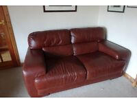 Sofaitalia real leather 3 seater settee