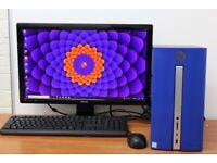 Complete HP PC Windows 10 8GB RAM 500GB SSD i5-7400 CPU Wifi Office