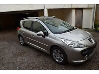 Peugeot 207 SW SPORT Long MOT 2008 1,6 Petrol 120 ps PANORAMIC ROOF not corsa, fiesta, polo, ibiza