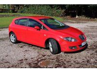 2007 Seat Leon Sport Diesel TDi in Brilliant Red 5 dr Sports seats Alloys Air Con inc 12 Months MOT