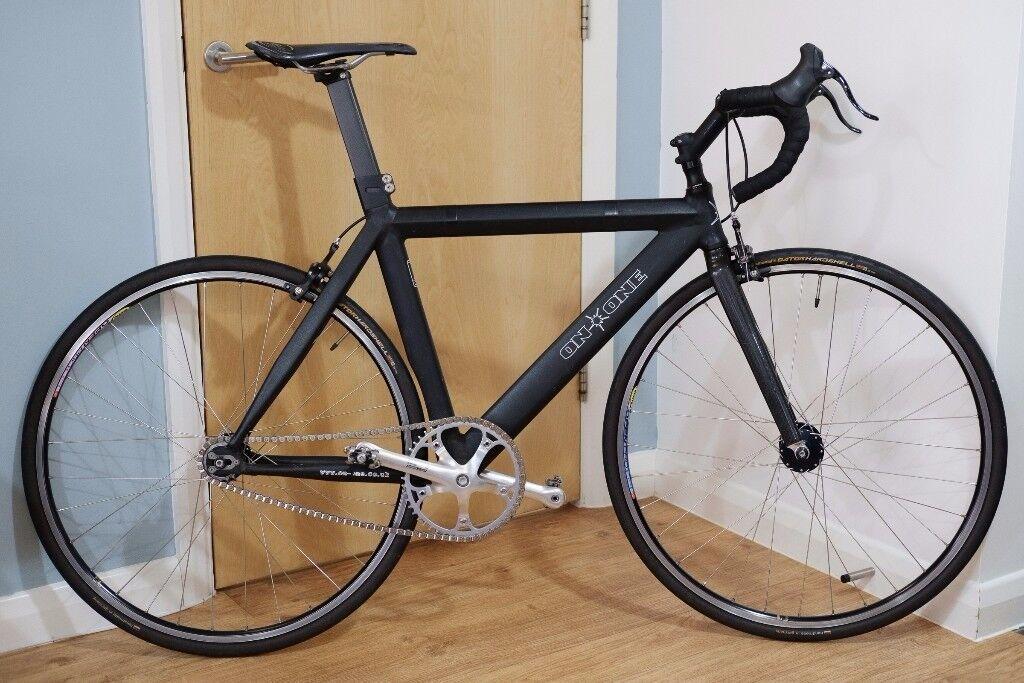 On One single speed / Fixie / Track Bike 54cm