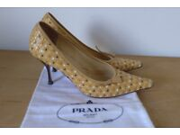 Collectible / Vintage PRADA Vero Cuoio (Real Leather) Heels. Size 39.5m (UK 6.5). Used.