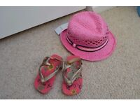 NEW Baby summer hat and havainas