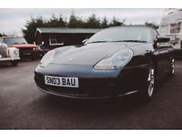Very good looking Porsche Boxster for sale, alloy wheels refurbished, great sports car.