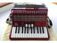 Weltmeister Perle 48 accordion , as new looking. Small and light currently retails at £1150.German