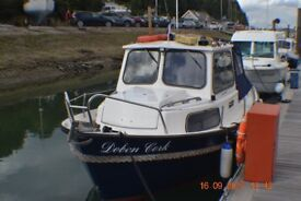 """USED FISHING BOAT ""HARDY"" FISHER 20 1994 ,NOW INCLUDES HALLMARK DEDICATED TANDEM AXLED TRAILER"