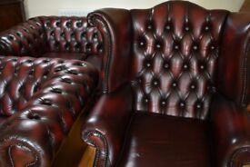 Beautiful Oxblood Chesterfield Suite