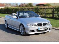 2005 BMW E46 330CI AUTO CONVERTIBLE 112K MILES! £10000 SERVICE INVOICES! LONG MOT!