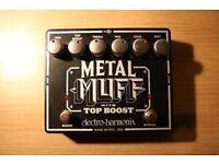Electro Harmonix Metal Muff Guitar Distortion Effects Pedal