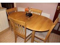 MUST GO: IKEA Extendable wooden Kitchen table + 4 chairs