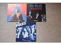 THE POLICE - ZENYATTA MONDATTA - EVERY BREATH YOU TAKE - REGATTA DE BLANC - VINYL ALBUMS