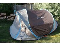 Quechua, Pop Up, 3 Man Tent - 2 Free Camp Chairs! (Can meet in London or near Loughton)