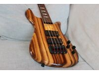 Spector Rebop 4 Zebrano bass guitar - immaculate, one-owner, hard case