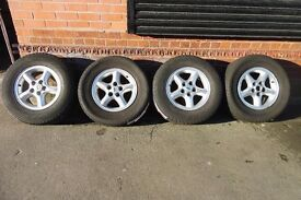 """16"""" ORIGINAL LAND ROVER ALLOY WHEELS AND TYRES SET OF 4"""