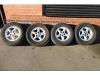 "16"" ORIGINAL LAND ROVER ALLOY WHEELS AND TYRES SET OF 4"