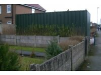 20 foot shipping container - green - lock box - as new condition. £1950