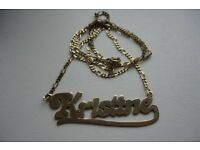 Gold name chain