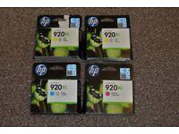 HP Office Jet 920XL cartridges - Cyan (1x), Magenta (1x), Yellow (2x)