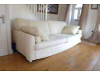 Sofa Jumbo Bellini John Lewis Oyster colour 3 seater sofa