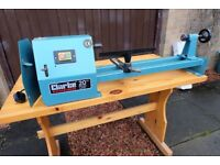 2 wood lathes, Chisels and Sharpening Machine