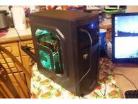 Six Core AMD Phenom II x6 1055T Gaming PC, 8GB RAM, 500GB, Radeon HD 6750 1GB GDDR5 GPU, Win 10