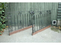 Wrought iron gates. Lovely design Very sturdy