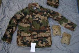NEW - Legion Etrangere, Foreign Legion, Army COMBAT Smock + Hood, Pads