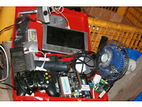 assorted computer and audio/tv spares and remotes