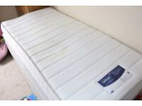 Single Divan Bed With Silent Night Miracoil Memory Mattress and Drawers