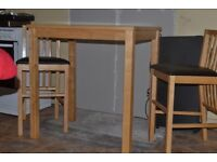 BISTRO TABLE & 2 CHAIRS/STOOLS