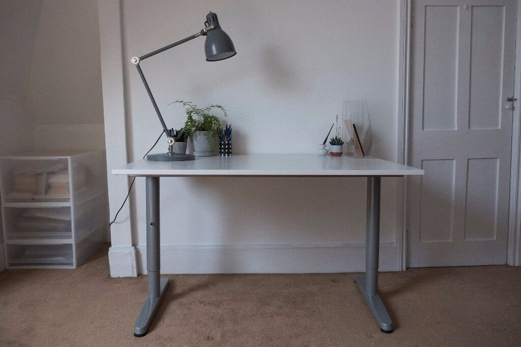Ikea White Galant Office Desk Height Adjule