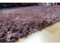 Large Purple Indoor Shaggy Rug