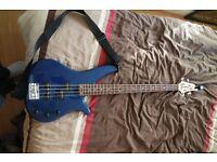 Yamaha bass guitar for sale + amp+case