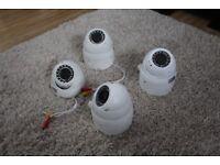 4 CCTV CAMERAS GT896TVIW – White TVI HD+ Eyeball CCTV , FULL HD