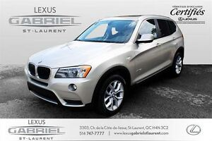 2013 BMW X3 xDrive28i 1 Owner car with low kilometer + Very cl