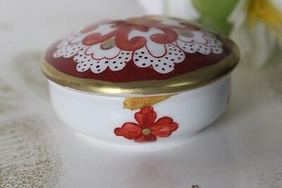 SCATOLINA IN PORCELLANA DIPINTA A MANO 6 cm  VINTAGE LIMOGES TRINKET BOX
